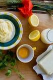 Preparing homemade margarine Royalty Free Stock Photography