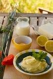 Preparing homemade margarine Stock Photo