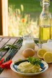 Preparing homemade margarine Royalty Free Stock Photo