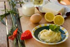 Preparing homemade margarine Stock Photos