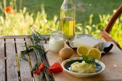 Preparing homemade margarine Stock Image