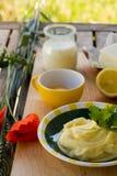 Preparing homemade margarine Stock Photography