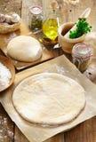 Preparing homemade pizza royalty free stock photo