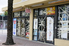 Preparing for Hurricane Matthew royalty free stock photo