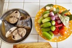 Preparing ingredient to cook Stock Image