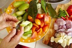 Preparing ingredient to cook Stock Images