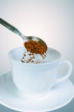 Preparing instant coffee Royalty Free Stock Photos