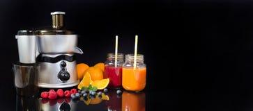 Electric juicer, prepare fresh juice Royalty Free Stock Photo