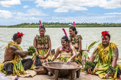 Celebrating the Kava Ceremony on tropic island Nukualofa, Tonga, South Pacific Island