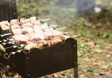 Preparing kebab Stock Image