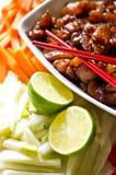 Preparing Korean food royalty free stock images