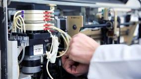 Preparing laboratory equipment Stock Image