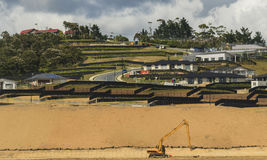 Preparing land for construction, Auckland,  New Zealand Royalty Free Stock Images