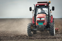 Preparing land for sowing Royalty Free Stock Image