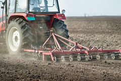 Preparing land for sowing Royalty Free Stock Photo