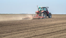 Preparing land for sowing Royalty Free Stock Photos