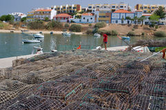 Preparing for lobster fishing stock images