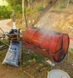 Preparing local cuisine in the caribbean Stock Image