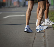 Preparing for marathon Stock Photography