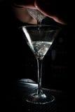 Preparing margharita coctail. In long wineglass Royalty Free Stock Photos