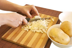 Preparing meal ingredients Royalty Free Stock Photography
