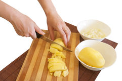 Preparing meal ingredients Stock Images