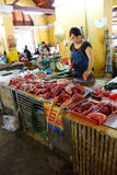 Preparing meat in Hoi An Royalty Free Stock Images