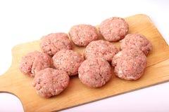 Preparing meatballs Stock Photos