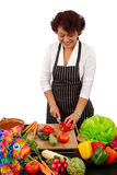 Preparing for Mexican Celebration Stock Photography