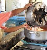 Preparing Mexican soup Stock Photos