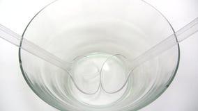 Preparing a Mixed Salad stock video
