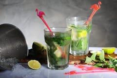 Preparing mojito cocktails Stock Photo