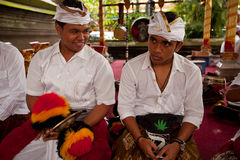 Preparing for Nyepi - Balinese New year Royalty Free Stock Photo
