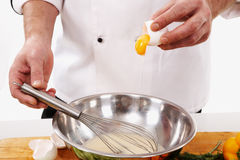 Preparing omelette Royalty Free Stock Photo