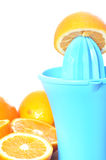 Preparing 100% orange juice Royalty Free Stock Photos