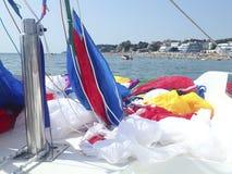 Preparing the parasail parachute Stock Image