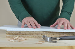 Preparing Particle Boards Stock Images