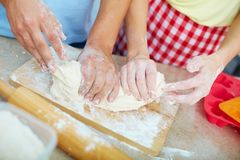 Preparing pastry Royalty Free Stock Image