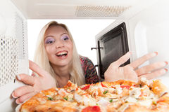 Preparing pizza Stock Photography