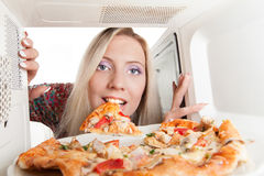 Preparing pizza Royalty Free Stock Image