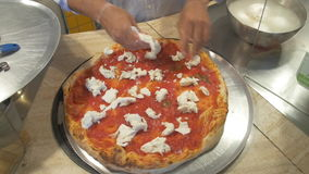 Preparing Pizza stock footage