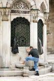 Preparing for prayer in Istanbul Royalty Free Stock Image