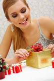 Preparing present Stock Photography