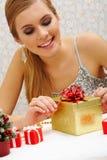 Preparing present Stock Photography