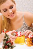 Preparing presents Stock Photo