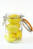 Preparing preserved lemons Royalty Free Stock Photos