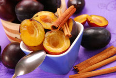 Preparing preserves of plums Royalty Free Stock Photography