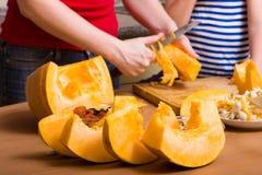 Preparing pumpkin Stock Image