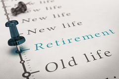 Preparing for Retirement Royalty Free Stock Image