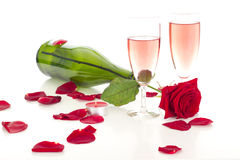 Preparing a romantic dinner Stock Images
